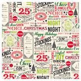 "Fantastic Christmas Words Scrapbook Paper - 12"" x 12"""