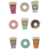 Donuts & Coffee 3D Stickers