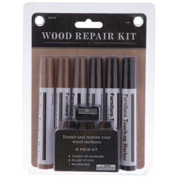 Brown & Black Wood Repair Markers - 13 Piece Set