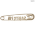 Gold Safety Pin Metal Wall Decor With Hooks