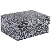 Black Zebra & Cheetah Print Box