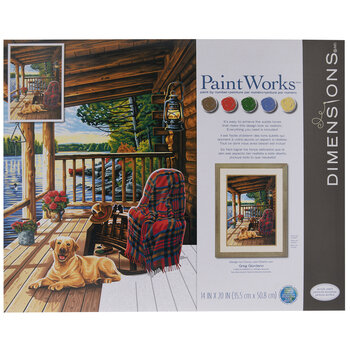 Log Cabin Porch Paint By Number Kit