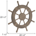 Ship Wheel Wood Wall Decor