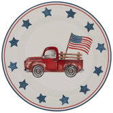 Red Truck & Flag Plate