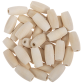 Oval Wood Beads - 12mm x 25mm