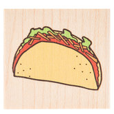 Taco Rubber Stamp