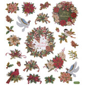 Merry Christmas Glitter Wreath Stickers