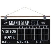 Baseball Scoreboard Wood Chalkboard