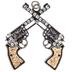 Dueling Revolvers Pendant