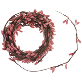 Coral Berry Ribbon Garland