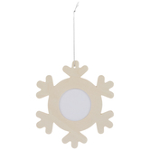 Wood Snowflake Frame Ornaments