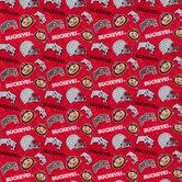 Ohio State Allover Collegiate Cotton Fabric
