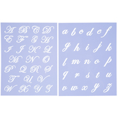 Formal Script Alphabet Stencils
