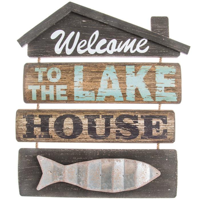 Welcome To The Lake House Wood Wall, Lake House Bathroom Wall Decor