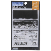 Sea You Soon Wave Clear Stamps