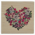 Floral Heart Rubber Stamp