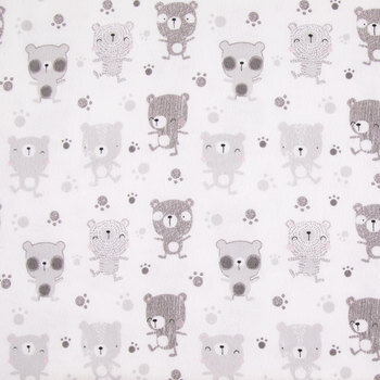 Beary Happy Flannel Fabric