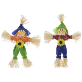 Blue & Green Mini Scarecrows