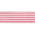 Red & White Striped Wired Edge Ribbon - 2 1/2