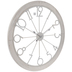 Distressed White Metal Wall Clock