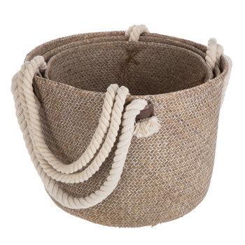 Sea Grass & Rope Handled Tote Bag Set