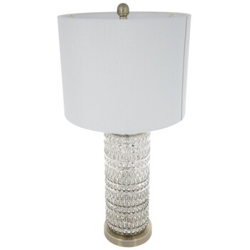 Mercury Glass Geometric Lamp