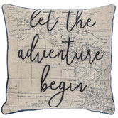 Adventure Begin Grid Pillow