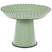 Green Metal Pedestal
