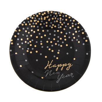 Happy New Year Confetti Paper Plates - Small