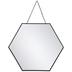 Black Hexagon Wall Mirror - Small