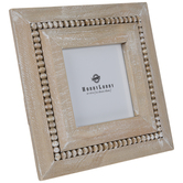 Distressed & Beaded Wood Frame