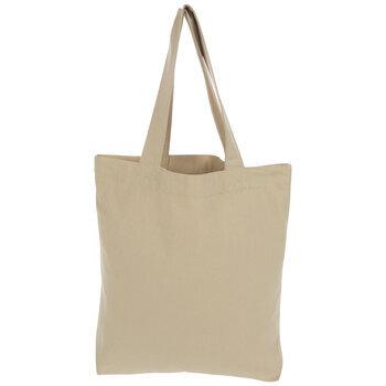 Beige Canvas Tote Bag