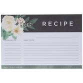 Floral Recipe Cards