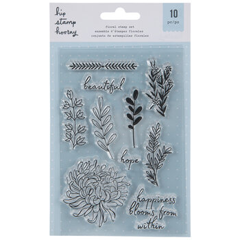 Happiness Blooms Floral Clear Stamps