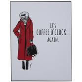It's Coffee O'Clock Again Wood Decor