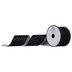 Black Glitter Cut Edge Ribbon - 2 1/2