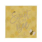Sweet As Can Bee Napkins - Small