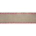 Natural Stitched Wired Edge Burlap Ribbon - 2 1/2