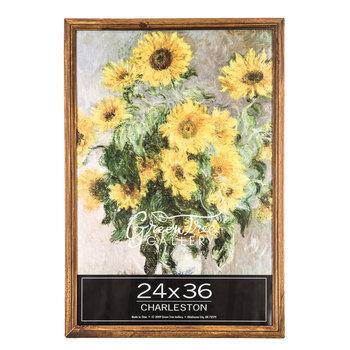 """Oak Beveled Wood Wall Frame - 24"""" x 36"""""""