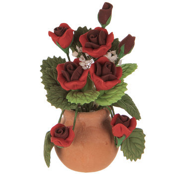 Miniature Vase Of Roses