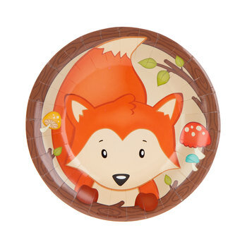 Woodland Party Paper Plates - Small