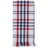 Red, White & Blue Plaid Cloth Napkins