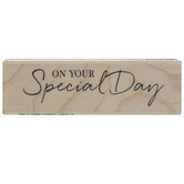 Special Day Rubber Stamp