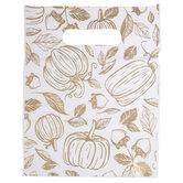Metallic Gold Pumpkins Zipper Bags