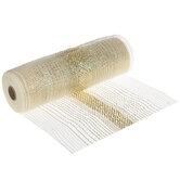 "Metallic Gold Ombre Deco Mesh Ribbon - 10"""