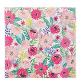 "Pink Brushed Floral Scrapbook Paper - 12"" x 12"""