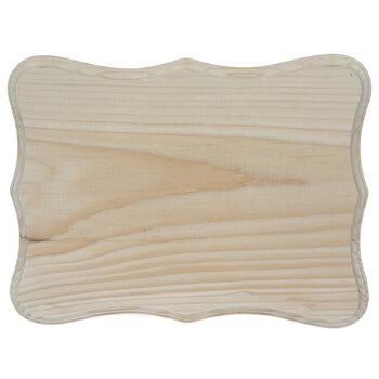 """Quatrefoil Shield Wood Plaque - 9"""" x 12"""""""