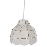 White Slotted Metal Pendant Lamp