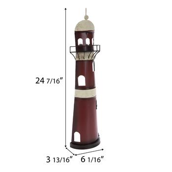 Lighthouse Light Up Metal Wall Decor