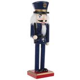 Police Officer Wood Nutcracker